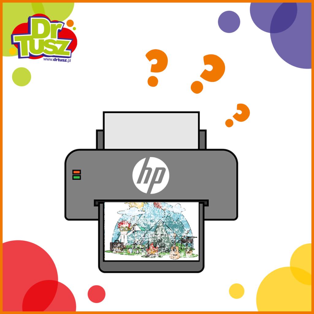 Zaschnięty tusz w drukarce HP